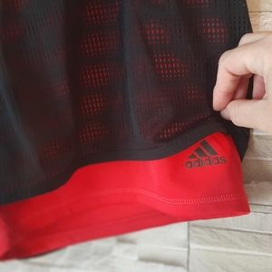 Adidas Climate Black And Red Athletic Shorts